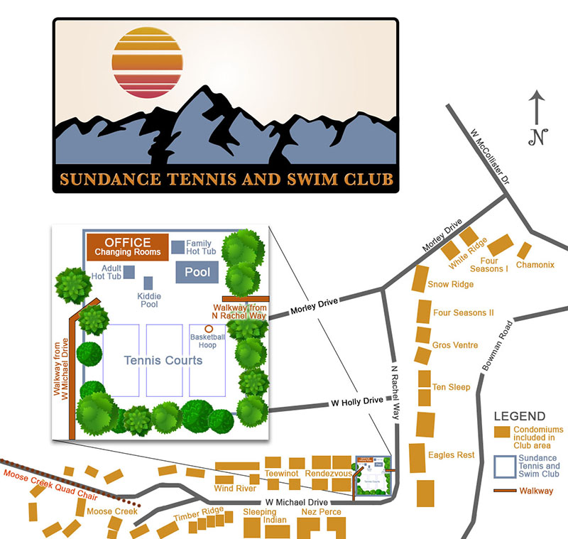Sundance Tennis and Swim Club, Teton Village, Jackson Hole